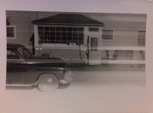 car and quarters 1954