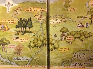 illustrations in the world of pooh