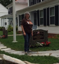Barb at Stephen Rowe Bradley house
