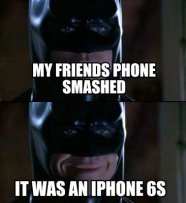 batman smashed phone