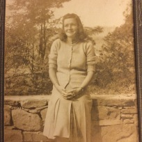 My mom in the late 1930s, early 1940s.